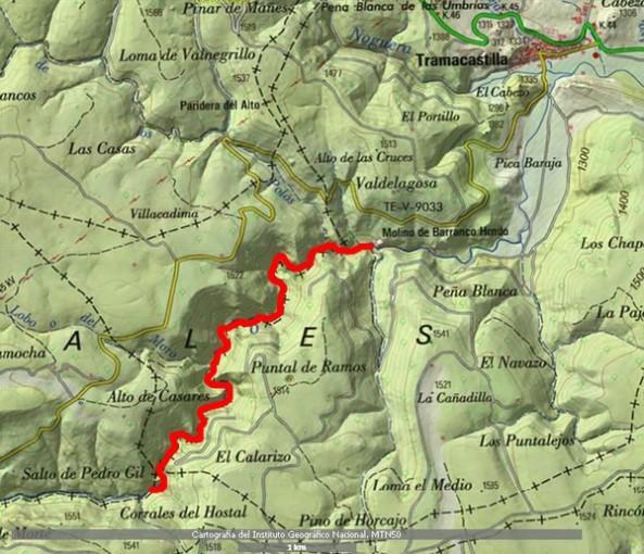 Barrancohondo cartografia